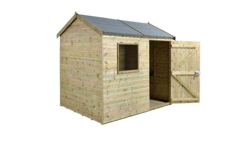 Best Garden Shed - 1 - 8' x 6' (2.42x1.82m) Shed-Plus Champion Heavy Duty Reverse Apex Single Door Shed