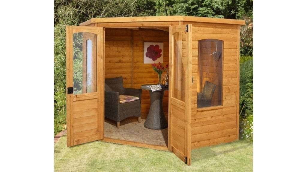 Best Garden Shed - 2 - 7 x 7 Waltons Tongue and Groove Wooden Corner Shed