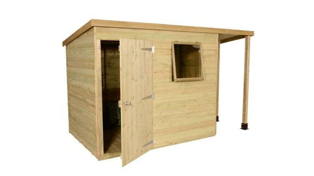 Best Garden Shed - 3 - 7'x5' Shed-Plus Champion Heavy Duty Pent Shed - Single Door on Right