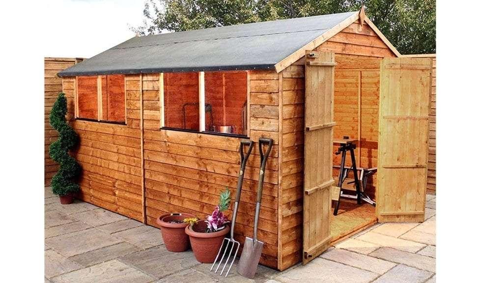 Best Garden Shed - 5 - 12x8 Overlap Wooden Apex Garden Shed