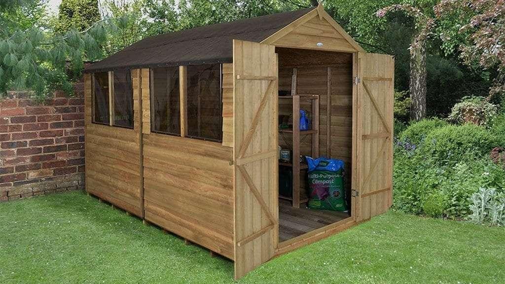 Best Garden Shed - 6 - Forest Garden 10x8 Apex Overlap Garden Workshop Shed