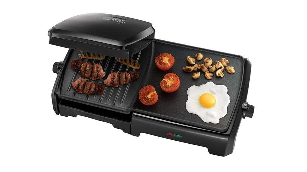 Best George Foreman Grills 2017 - George Foreman 23450 Entertaining Grill & Griddle, 10 portion