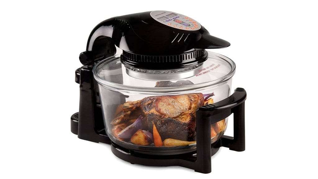 Best Halogen Oven - Andrew James Digital Halogen Oven Cooker With Hinged Lid 12L Black 1400W