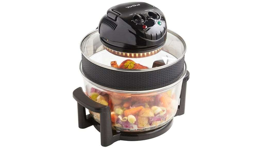 Best Halogen Oven - VonShef Premium 12L Black Halogen Air Fryer Oven 1400W
