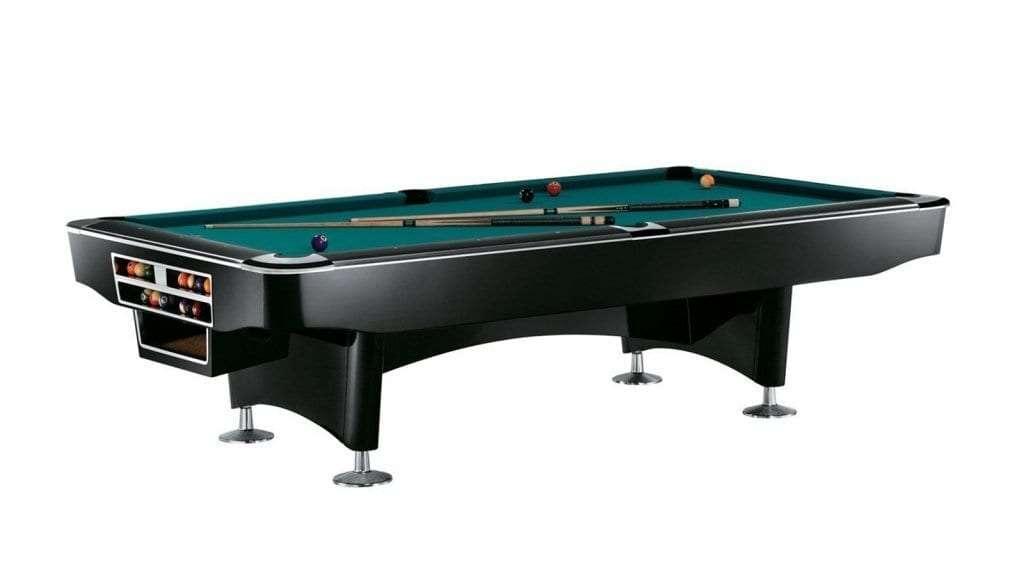 Best Pool Table - Billiard-Royal 9ft Gladiator Black Wood, Slate Pool Table