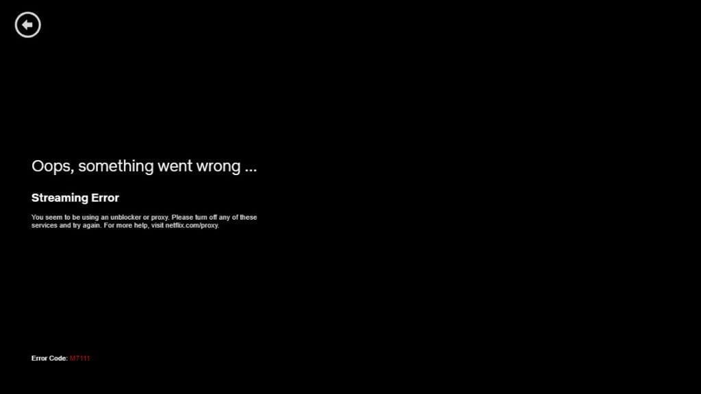 Netflix detecting VPN