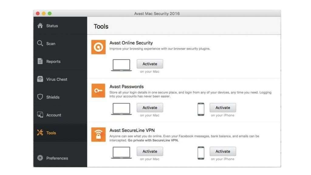 Avast Security for Mac review - screenshot