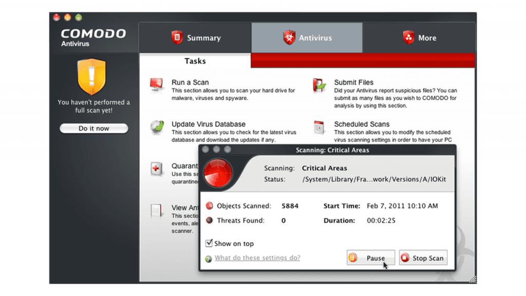 Comodo Antivirus for Mac review - screenshot
