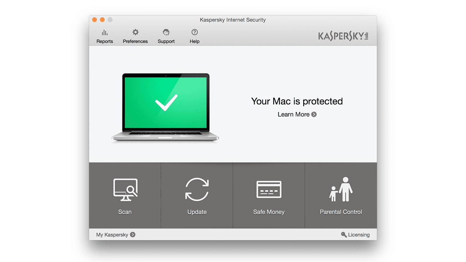 Kaspersky Lab Internet Security for Mac review - screenshot