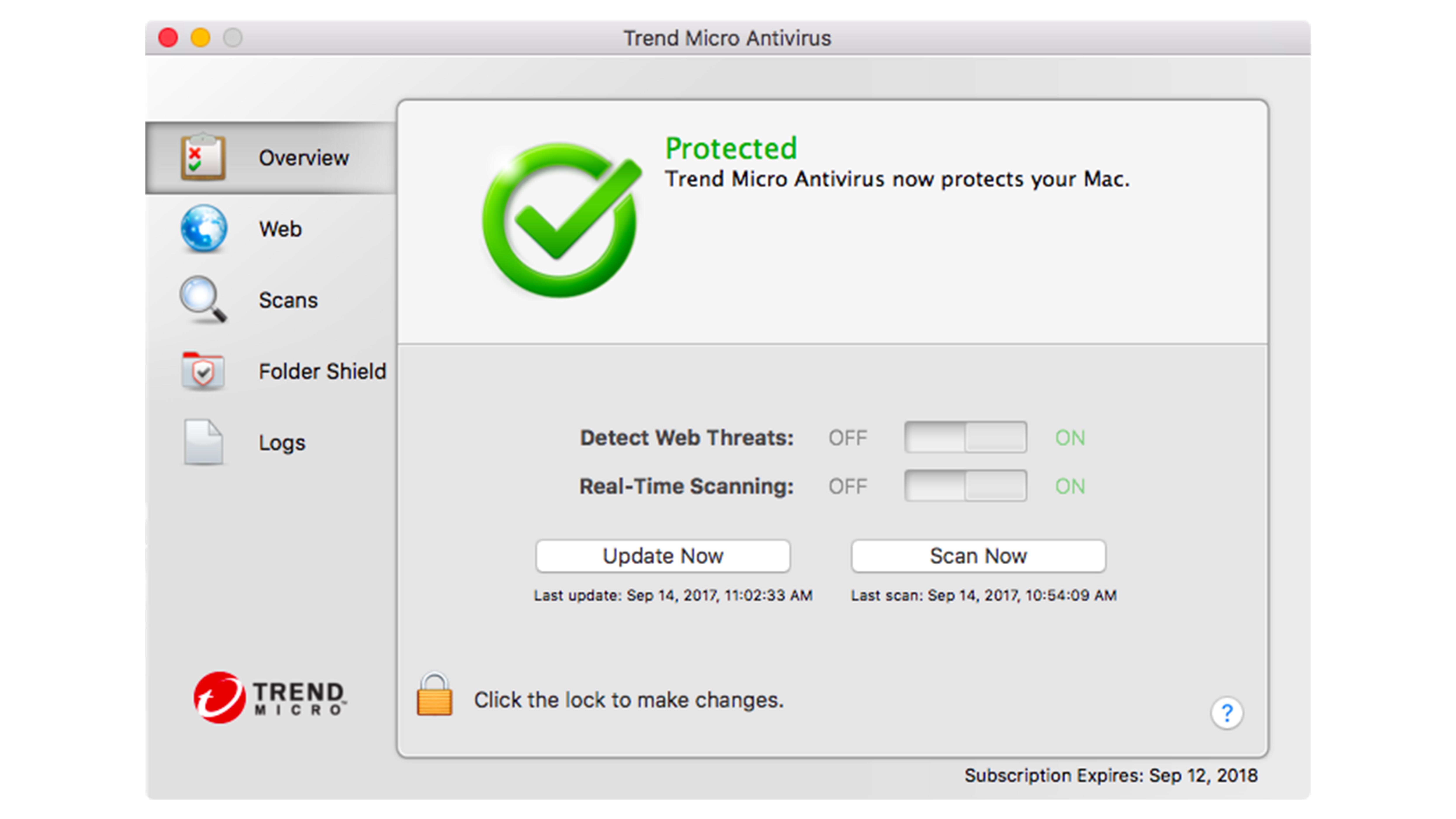 Trend Micro for Mac review - screenshot