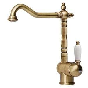 Best Kitchen Tap - Franke 115.0028.205 High Pressure Kitchen Tap with Fixed Spout - Old Gold
