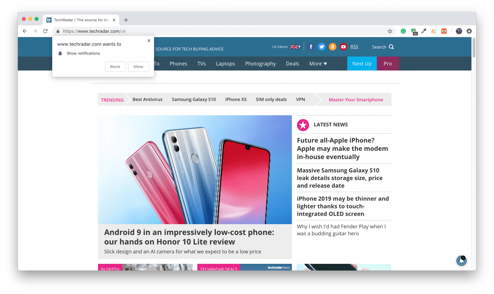 How to block popup notifications on Chrome