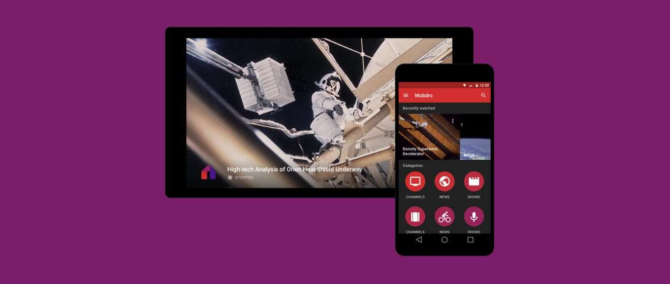 Mobdro is an application for Android devices that enables users to crawl the web for free streams, arrange them by category and capture them in order to watch them.