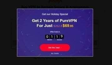 PureVPN discount code - method 2