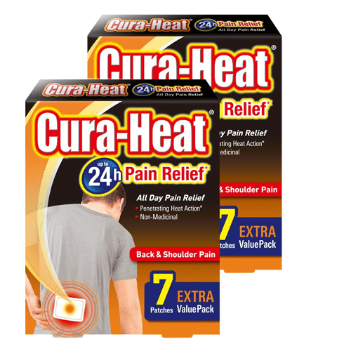 Cura Heat Back & Shoulder Pain Patches