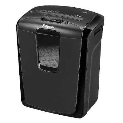 Fellowes Powershred M-8C 8 Sheet Cross Cut Personal Shredder With Safety Lock