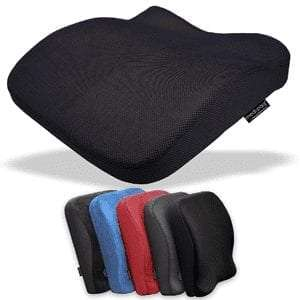 Medipaq Memory Foam Contoured 2in1 Seat & Back Cushion