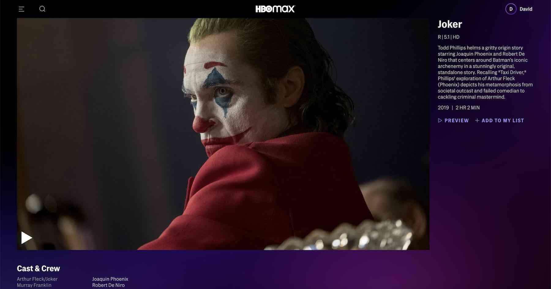 HBO Max not working with VPN - Joker