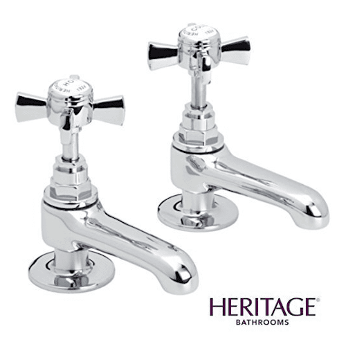 Heritage Dawlish Basin Pillar Taps