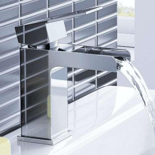 iBathUK Chrome Waterfall Bathroom Set
