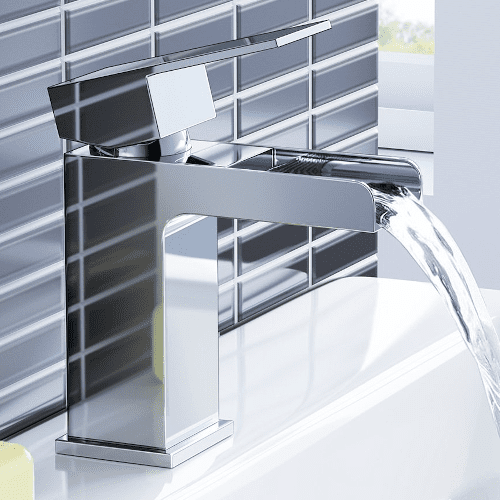 iBathUK Chrome Waterfall Bathroom Set