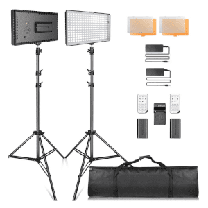 SAMTIAN LED Video Lighting Kit with Stand LED