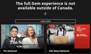 How to watch CBC Gem outside of Canada