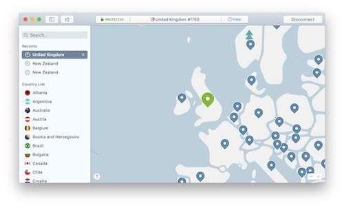 NordVPN UK screenshot