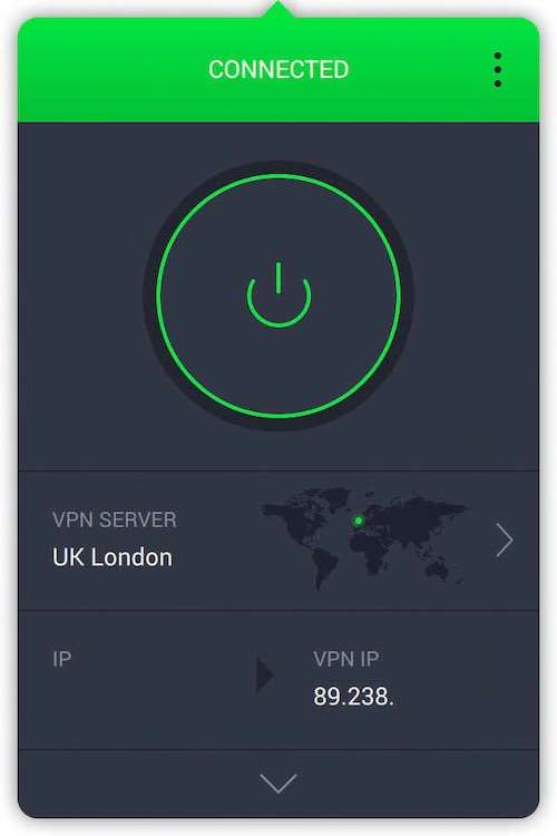 Private Internet Access UK screenshot
