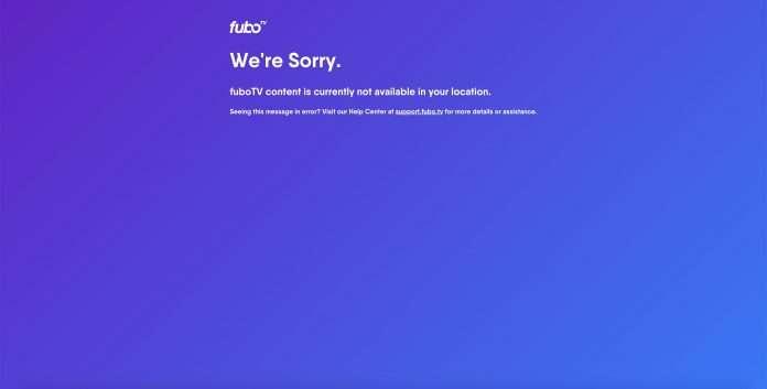 FuboTV not working with VPN