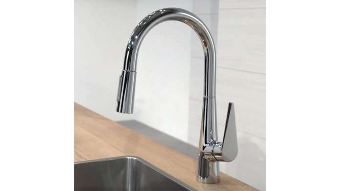 Hansgrohe Talis S kitchen tap with pull out spray