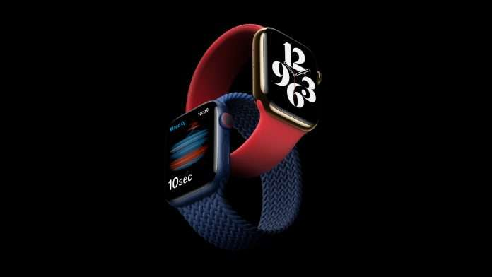 How does the Apple Watch Series 6 measure blood oxygen levels