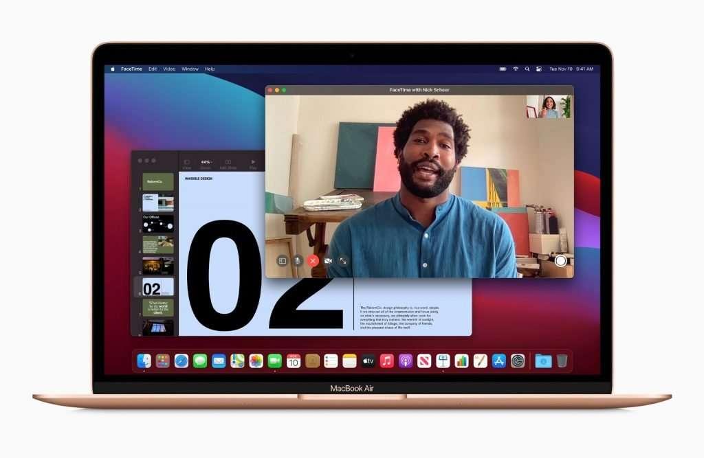 Apple MacBook Air review (Late 2020) - 720p camera