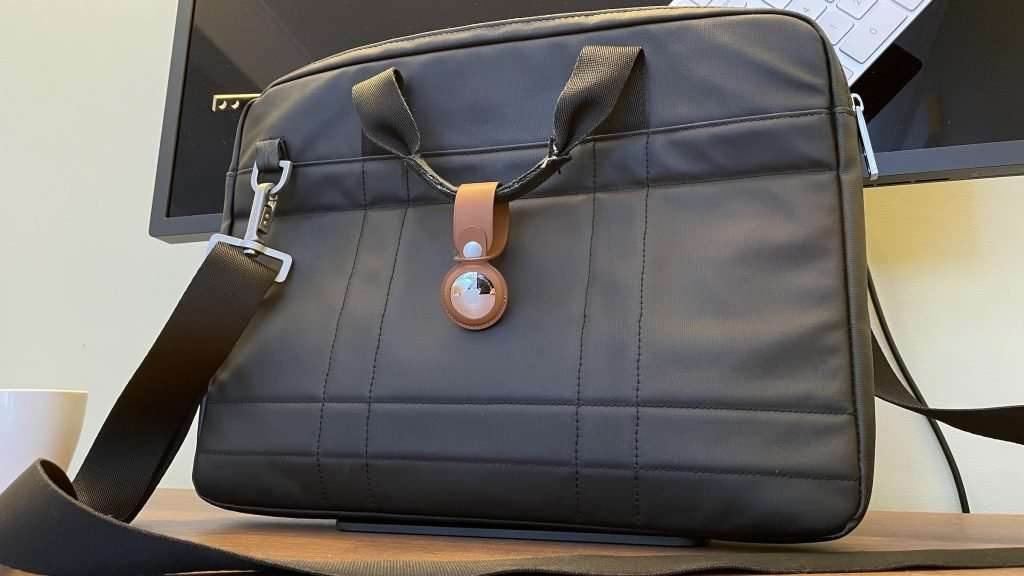 AirTags review - laptop bag