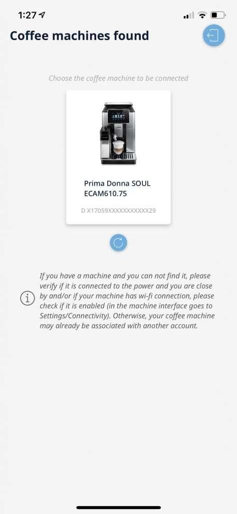 DeLonghi PrimeDonna Soul review app screenshots 1