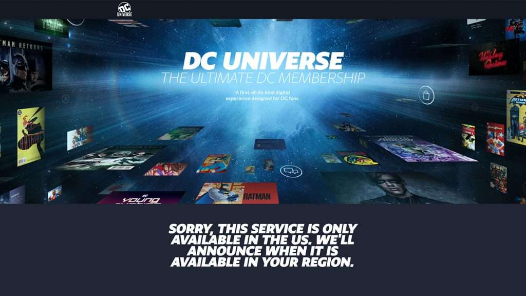 access DC Universe Infinite outside the US 1