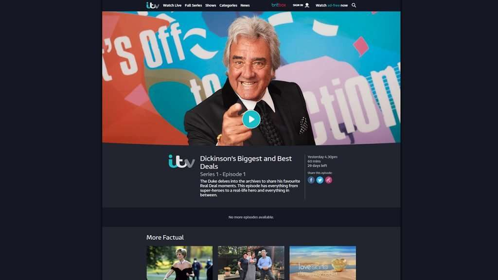 Tunnelbear not working with ITV Hub 2